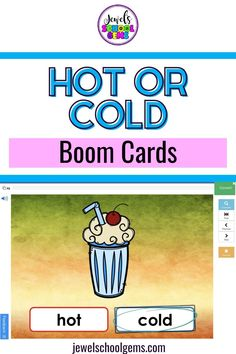Boom Cards - Looking for resources to assess your students' understanding of hot or cold? These colorful Temperature Science BOOM Cards™ will do the trick! Included are a link to access 30 Digital Task Cards (1 card per slide) on the BOOM Learning℠ website and Teacher Notes for using these BOOM Cards™ in your classroom. Differentiate between hot and cold in no time with these digital task cards. Click to learn more.