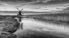 Herringfleet Windmill, Suffolk  BW rework an earlier colour shot.