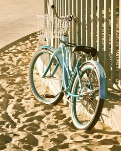 Sand and your bicycle go together for the best simple outdoors fun at the beach or anywhere really.