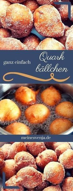 Ganz einfaches Quarkbällchen Rezept für den Thermomix - selbst ausprobiert, al. Very simple quarkballs recipe for the Thermomix - tried it yourself, all steps explained exactly and with guarantee of Easy Cake Recipes, Easy Desserts, Sweet Recipes, Dessert Recipes, Delicious Desserts, Snacks Recipes, Healthy Desserts, Dinner Recipes, Cheese Recipes