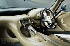 TVR Cerbera interior - note the vent mounted below the steering wheel