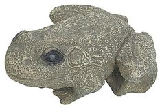 Stone Frog Decoration  I would love to have a few of these hidden around the plants!