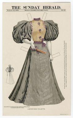 75.2333: Ladies ' Demi-Toilette 1895| dress
