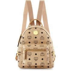 MCM Stark Visetos Mini Backpack Studded Backpack ebb9ac5df6c1