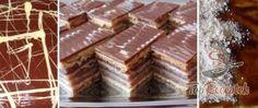Recept Kiváló diós Zserbó szelet Square Cakes, Treats, Florida, Kefir, Food, Drinks, Fitness, Party, Vitamins