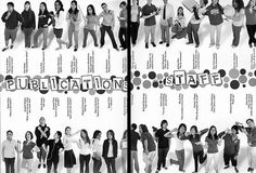 My Choice #4: This yearbook staff page is really original! I like it.: