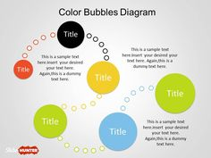 Color Bubble Diagrams for PowerPoint is a free design diagram created with shapes in PowerPoint #diagram #template #PowerPoint