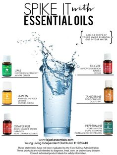 Spike your water with EO's! LoJack Essentials - Young Living Independent Distributor #1935448