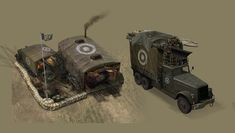 ArtStation - Company of Heroes: Opposing Fronts — Armor Command Truck, David Cheong
