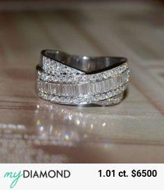 Round and Baguette Cut Diamond Wedding Band White Gold). Wedding Jewelry, Wedding Rings, Gold Wedding, Party Wedding, Jewelry Accessories, Jewelry Design, Ring Set, Schmuck Design, Diamond Are A Girls Best Friend