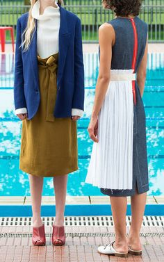 Hollis Denim Shift Dress by ERIKA CAVALLINI for Preorder on Moda Operandi