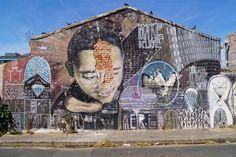 """From Sulger-Buel Lovell, David Lurie, """"Our home, our Heart"""", Woodstock (recently demolished. Mural by Freddy Sam) Colour photograph on fibre based … South African Artists, Photojournalism, Woodstock, Painting & Drawing, Graffiti, Street Art, Artsy, Artwork, Prints"""