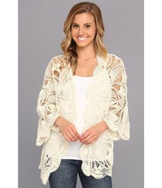 Crochet mandala cardigan from Volcom.