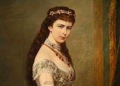 Sissi, portraitiert vom Maler Hermann Nigg (um 1882) (detail).