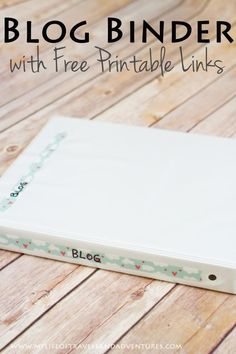 Blog Binder (with Free Printables): Plan you posts, Keep track of ideas, Track your growth & income. #Blog #Planner