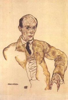 Portrait of Arnold Schoenberg by Egon Schiele 1917