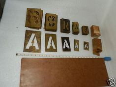 160+ set brass letter / number stencils painters kit with oil board, Marsh brush