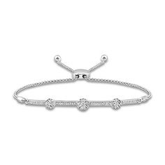 a18cdb64a3084c Diamond Bolo Bracelet 1/10 ct tw Round-cut 10K Rose Gold | Best Gift Ever | Diamond  bracelets, Bracelets, Gold