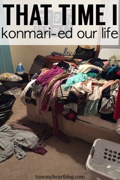 "I read Marie Kondo's popular, ""The Life-Changing magic of tidying up,"" and promptly Konmari-ed our whole house. This post summarizes the main points of her method so you can try it for yourself!"