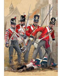 Afbeeldingsresultaat voor 1st legere uniforms hougoumont 1815