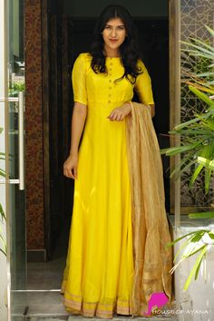 Dresses and Gowns - House of Ayana Salwar Designs, Kurti Designs Party Wear, Blouse Designs, Frock Patterns, Gown Pattern, Long Gown Dress, Long Frock, Frock Dress, Long Gowns