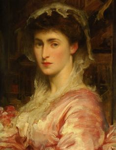 Mrs Evans Gordon :: Lord Frederick Leighton.  Art Experience NYC  www.artexperiencenyc.com/social_login/?utm_source=pinterest_medium=pins_content=pinterest_pins_campaign=pinterest_initial