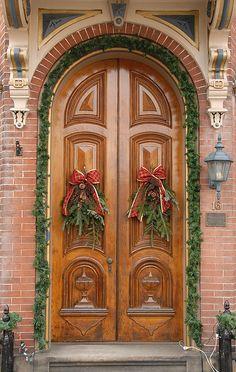Christmas Door Danville Pennsylvania by Teyacapan, via Flickr