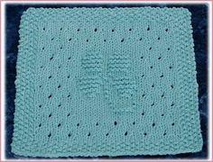 Lacey 4 Leaf Clover Free Knit Dishcloth Pattern