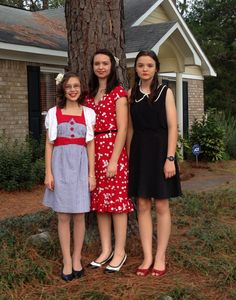 My sisters and I before the party