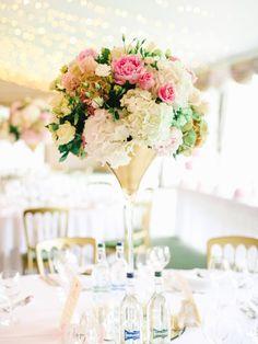 Dundas Castle Scotland Planet Flowers Edinburgh - Gold Martini vase arrangement