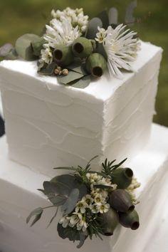 IGBY Australian wedding ceremony, native florals, gum leaves