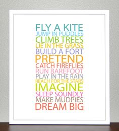 Be a Kid Print ($20)
