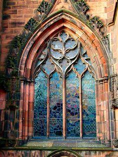 church window, England