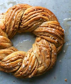 Peanut Butter Crescent Ring | A simple twisting technique makes this dessert look impressive (it's basically the same method used to make chocolate babka), but it's secretly a cinch to put together.