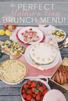 Celebrate Mother's Day with a delicious brunch. This easy spring menu includes waffles, cheesecake, quiche and sangria.