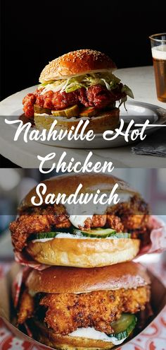 Nashville Hot Chicken Sandwich (panko and flour combo with egg whites) Fried Chicken Burger, Spicy Fried Chicken, Buffalo Chicken Sandwiches, Chicken Sandwich Recipes, Nashville Hot Chicken Sandwich Recipe, Chicken Sandwhich, Buffalo Chicken Burgers, Roasted Chicken, Wraps