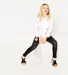 PATCH AND PAINT SPLATTERED JEANS-JEANS-GIRL | 4-14 years-KIDS | ZARA United States