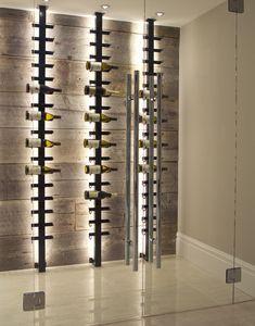 Kim, Fix My House: Creating a Wine Cellar - Home Trends Magazine Wine Cellar Modern, Modern Wine Rack, Glass Wine Cellar, Home Wine Cellars, Wine Cellar Design, Wine Rack Wall, Wine Wall, Wine Shelves, Wine Storage