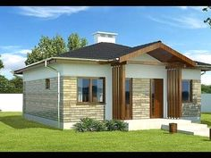 Landscaping To Sell Your House Info: 8102074263 Bungalow Haus Design, Modern Bungalow House, Village House Design, Village Houses, Mexico House, Solar Panels For Home, Modern Farmhouse Exterior, House Blueprints, Craftsman House Plans