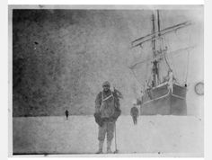 100 year old picture, at antartica