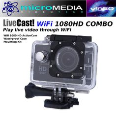 CamTRAX 1080 HD WiFi Action Cam w/ Waterproof Case/Mount Bundle Compare GoPro #CamTRAX