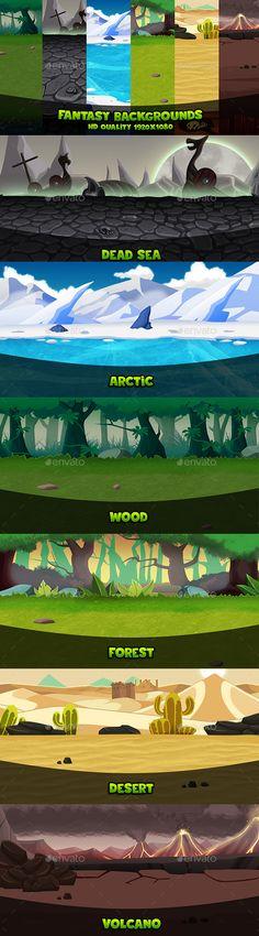 Fantasy Backgrounds - Backgrounds Game Assets