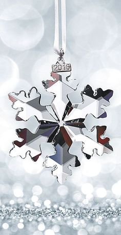 The beauty for this year, Swarovski 2016 Annual Edition Ornament, Snowflake, Anniversary Celebration Swarovski Snowflake, Swarovski Ornaments, Crystal Snowflakes, Xmas Ornaments, Christmas Decorations, Swarovski Crystals, Winter Nail Designs, Christmas Nail Designs, Merry Christmas Everyone