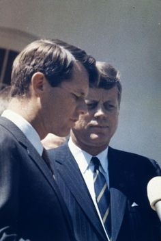 President John F Kennedy With His Brother Then Attorney General Robert Kennedy