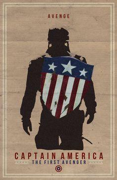 Captain America Film Poster, via Etsy.