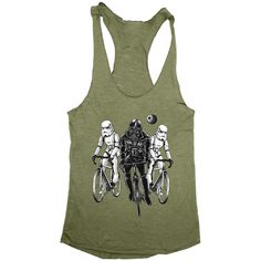 Star Bikers Darth Vader Storm Troopers Racerback Tank