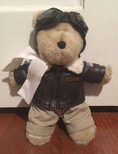 "Starbucks Bearista Aviator Teddy Bear Coffee 2004 Barista Collectible 10"" | eBay"