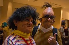 OMZ Real life Bert and Ernie #cosplay is ... horrifyingly awesome? Awesomely horrifying?