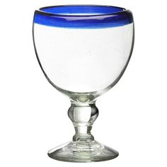 Add a pop of color to your patio or dining room tablescape with these delightful glasses, showcasing a cobalt blue hue.  Product: