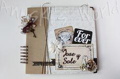 Libro de firmas de boda vintage - Anuski´s World Album Vintage, Cute Presents, Photo Book, Mini Albums, Cardmaking, Diy Crafts, Handmade, Scrapbooking, Wedding